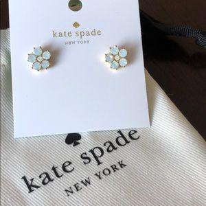 Kate Spade Opal Flower Gold Earrings